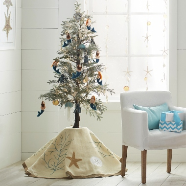 Coastal Ocean Mermaid Mini Christmas Tree
