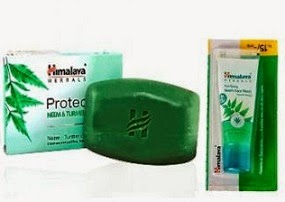 Jaw Dropping Deal: Pack of 3 Himalaya Herbals Protecting Neem&Turmeric Soap (125 G each) + Himalaya Neem Face Wash (15 ml) for Rs.78 Only