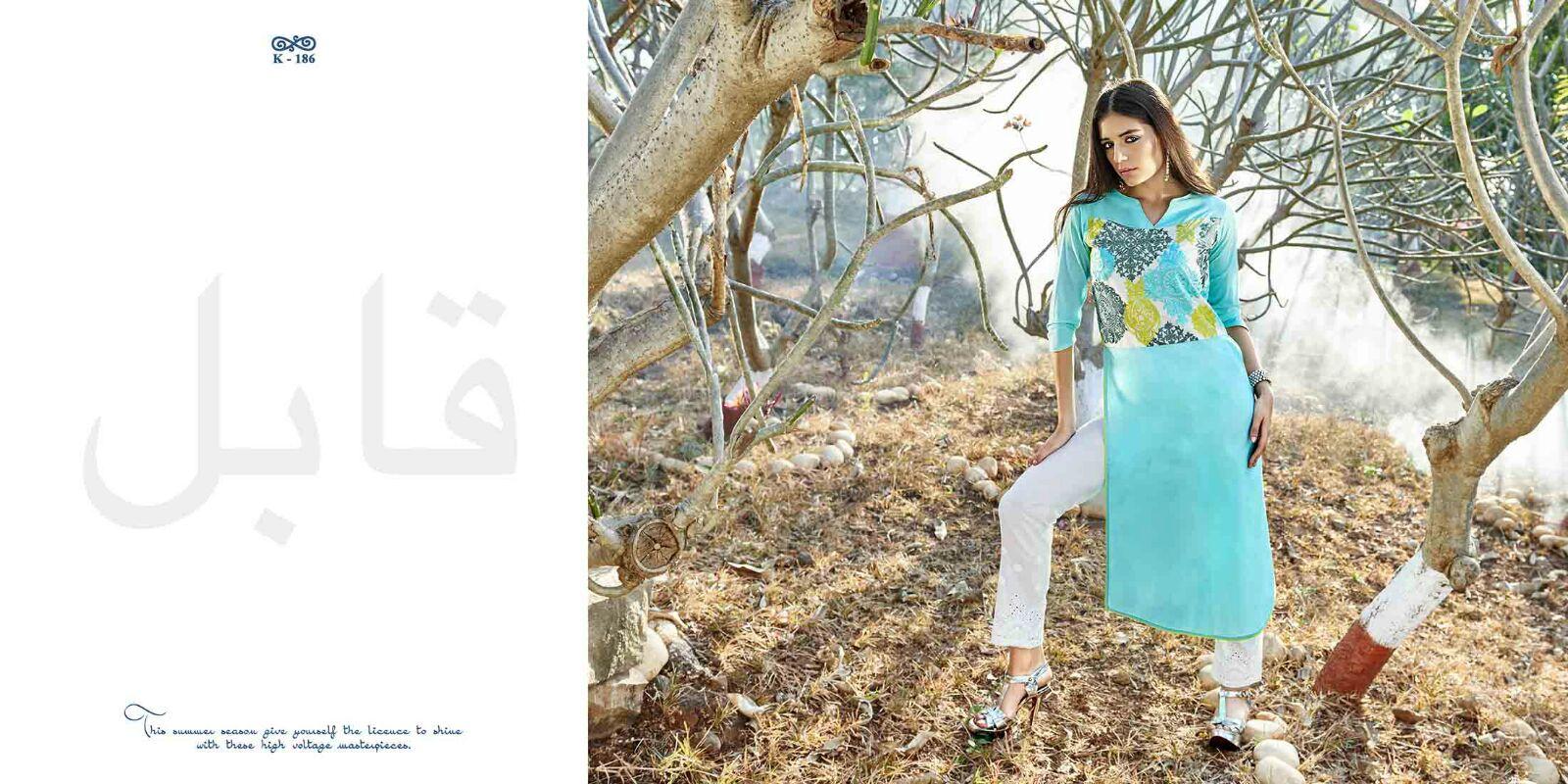 Aafizah – Cotton Designer Kurti Catalog