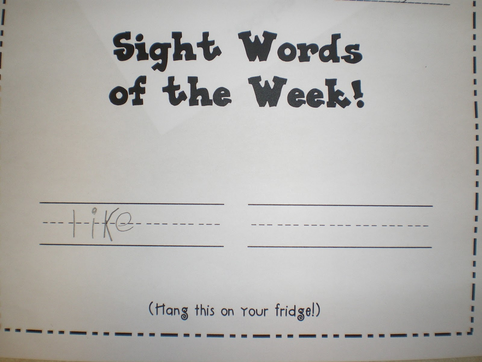 Kindergarten Tales Sight Words
