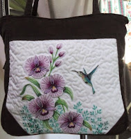 orchid embroidered bag