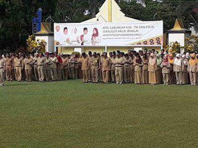 Jalin Silaturahmi, TNI, Polri dan ASN Kotawaringin Barat Gelar Halal Bihalal