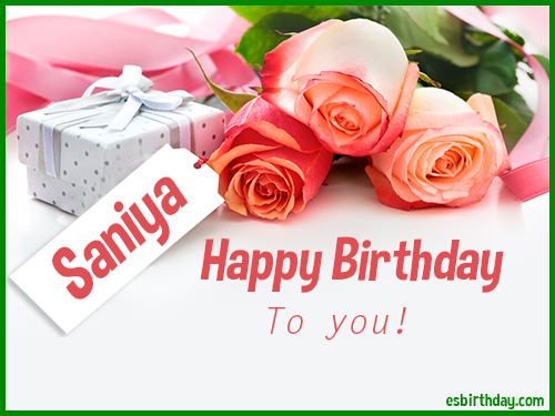 Happy Birthday Saniya Happy Birthday Images For Name