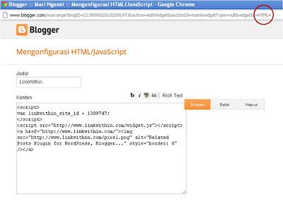 Cara Membuat Widget Tidak Tampil di Homepage