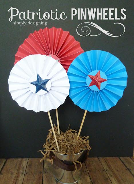 Patriotic+Pinwheel+decor 15 Patriotic Projects 37