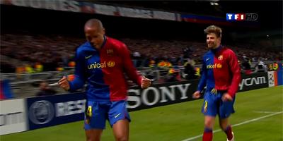 UEFA-16 : Lyon 1 vs 1 Barcelona 24-02-2009