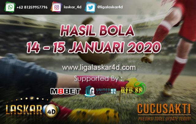HASIL BOLA JITU TANGGAL 14 – 15 JANUARI 2020