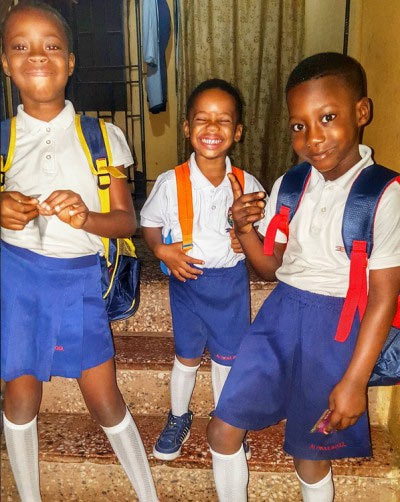 Sound Sultan shares picture of his cute kids heading for school