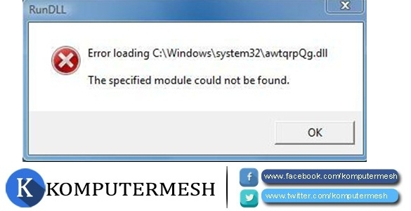 Cara Ampuh Memperbaiki Rundll Error Windows 7
