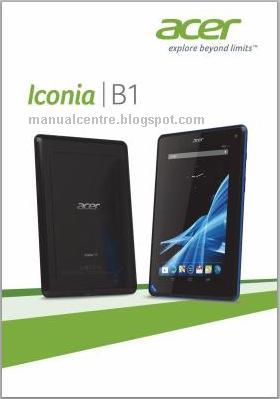 Acer Iconia Tab B1-A71 Manual  Cover