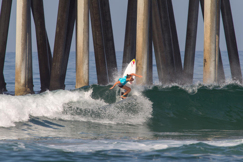 11 Carissa Moore Vans US Open of Surfing foto Sean Rowland WSL