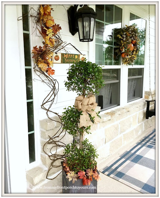 Fall-Topiary-Fall Porch-Porch-From My Front Porch To Yours