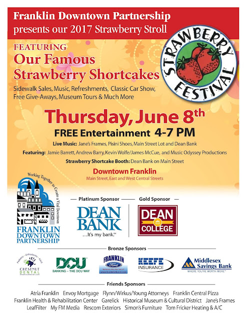 Strawberry Festival or Stroll, the weather seems like it will be sunny for Thursday PM