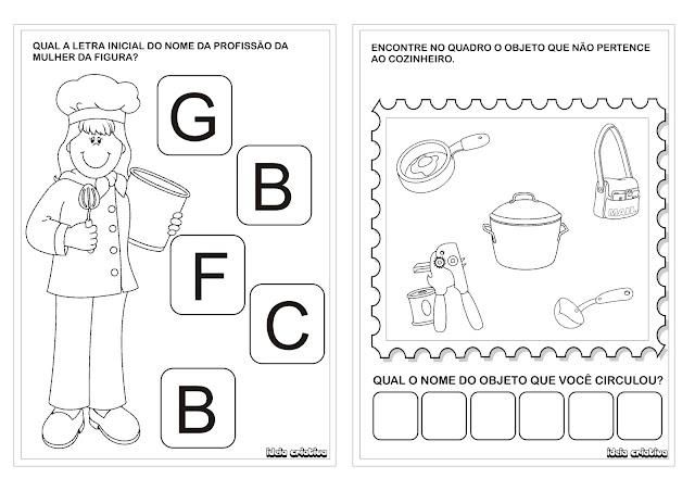 Atividade Dia do Trabalho Educação Infantil- Profissões