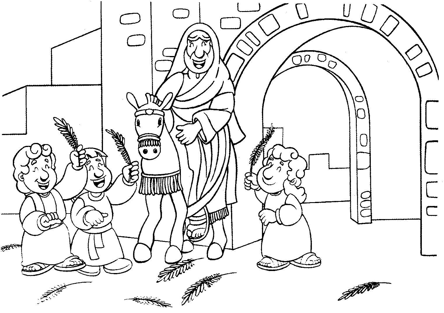 Dibujos Colorear Semana Santa Infantil: Dibujo De La Semana Santa Para Colorear