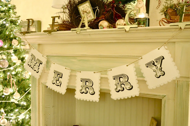 Make this merry banner printable included
