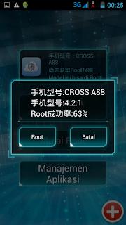 Screenshot pilih tombol Root - catatandroid.blogspot.com