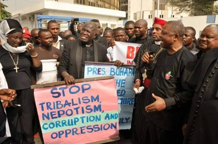 "Photos: CAN protests Southern Kaduna ""genocide"" by Fulani herdsmen"