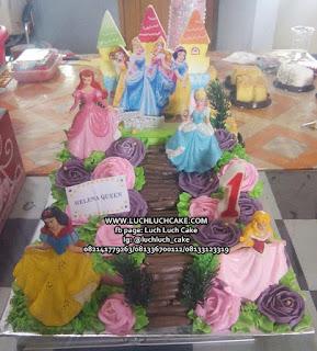 Kue Tart Ulang Tahun Anak Cewek Tema Princess