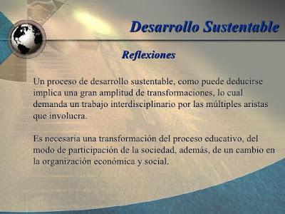 reflexión desarrollo sostenible