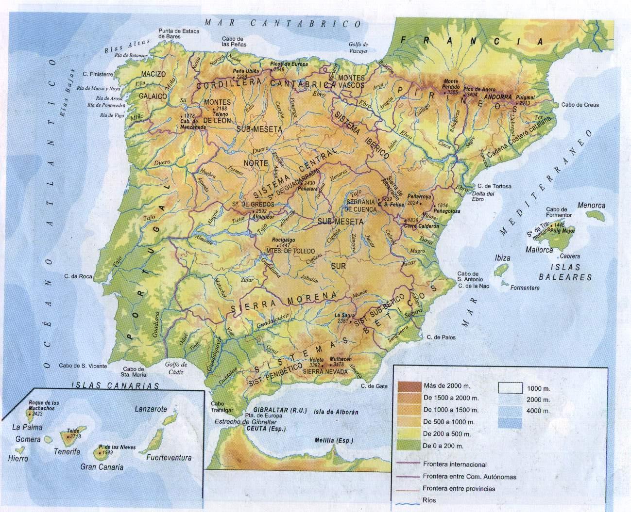 Cabo De Machichaco Mapa.Nuestra Clase Reyes Catolicos Mapa De Espana