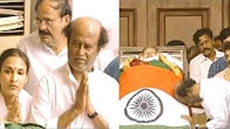 Rajinikanth grieves for the death of CM Jayalalithaa