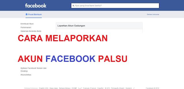 Cara Mudah Melaporkan Akun Facebook Palsu yang Menyamar