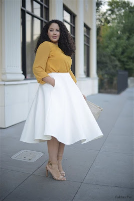 Faldas y Blusas Elegantes para Gorditas