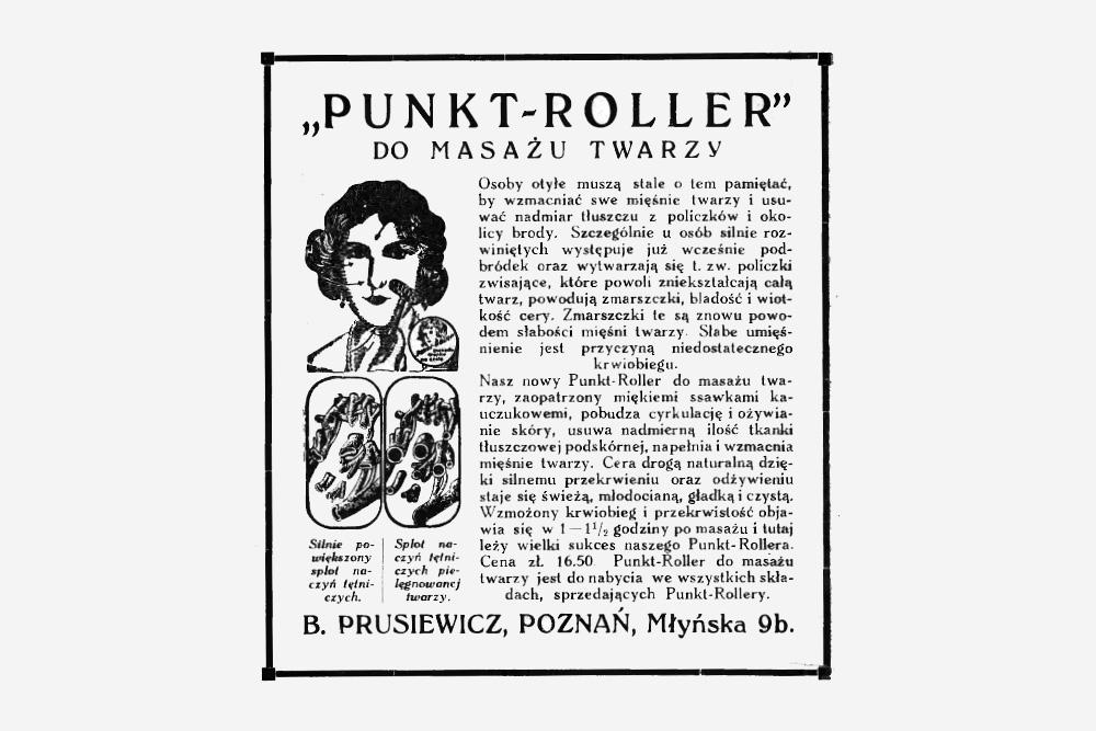PUNKT-ROLLER, reklama prasowa 1928