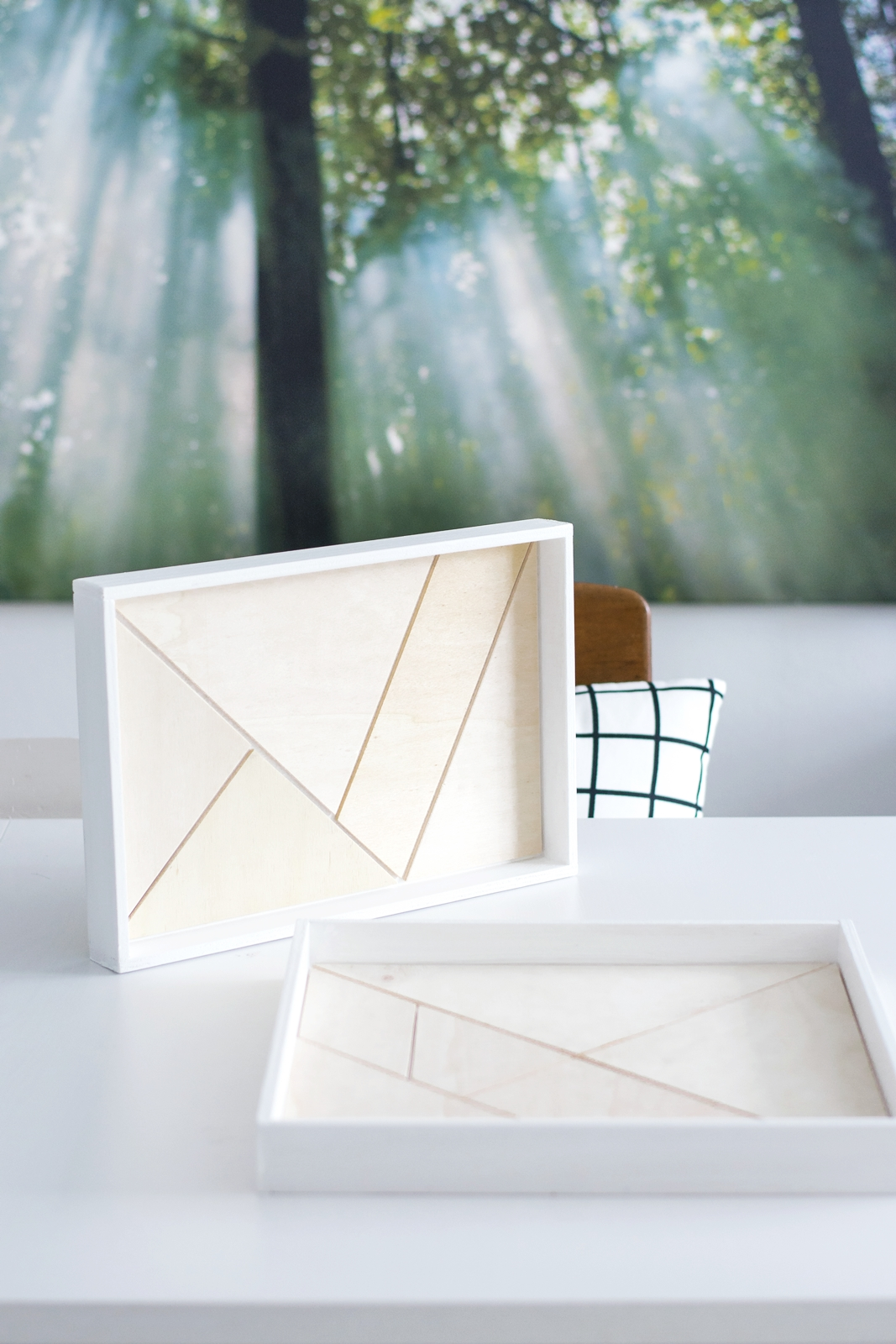DIY Tangram Holz Tablett