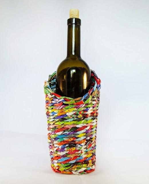 osłonka na butelkę wina