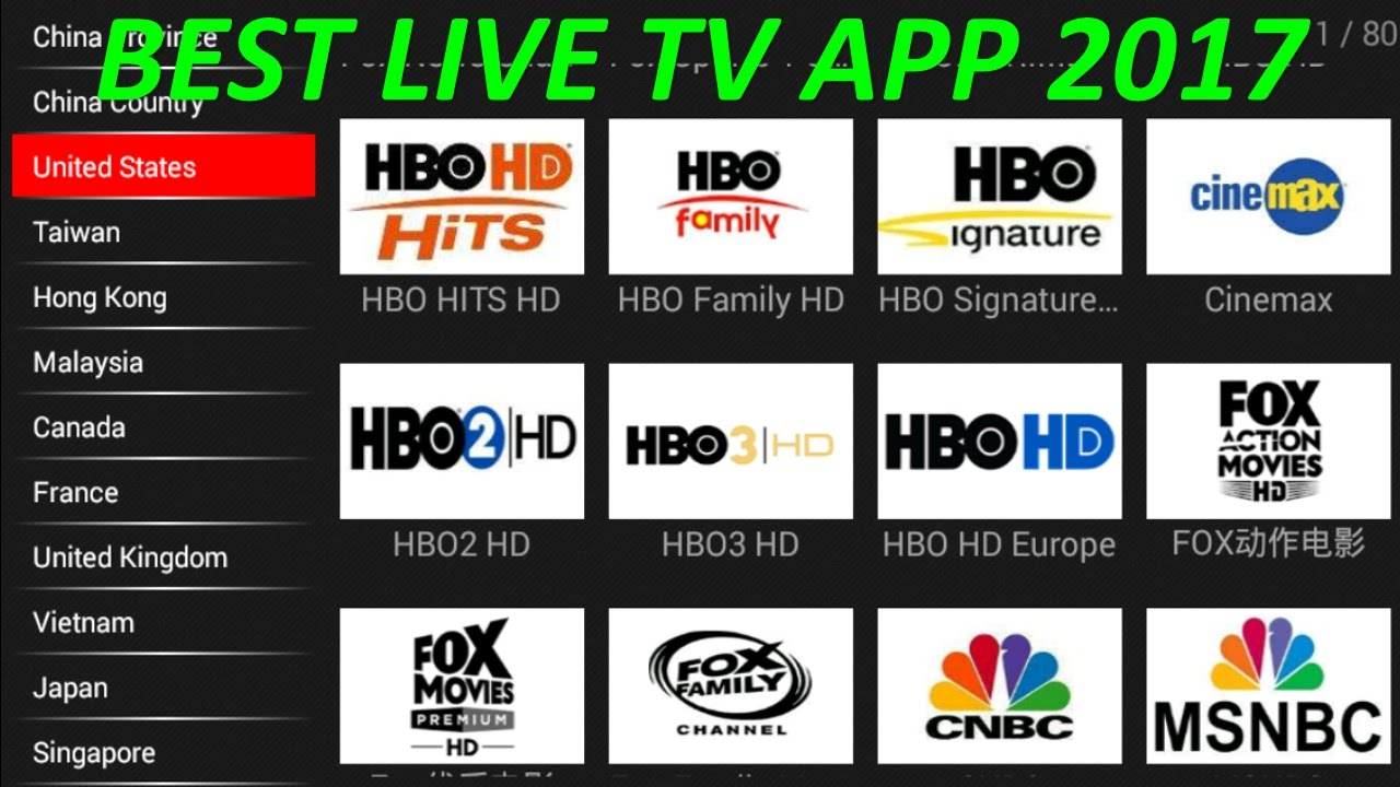 THE BEST FREE LIVE TV IPTV APP FOR ANDROID 2017 - BETTER THAN MOBDRO