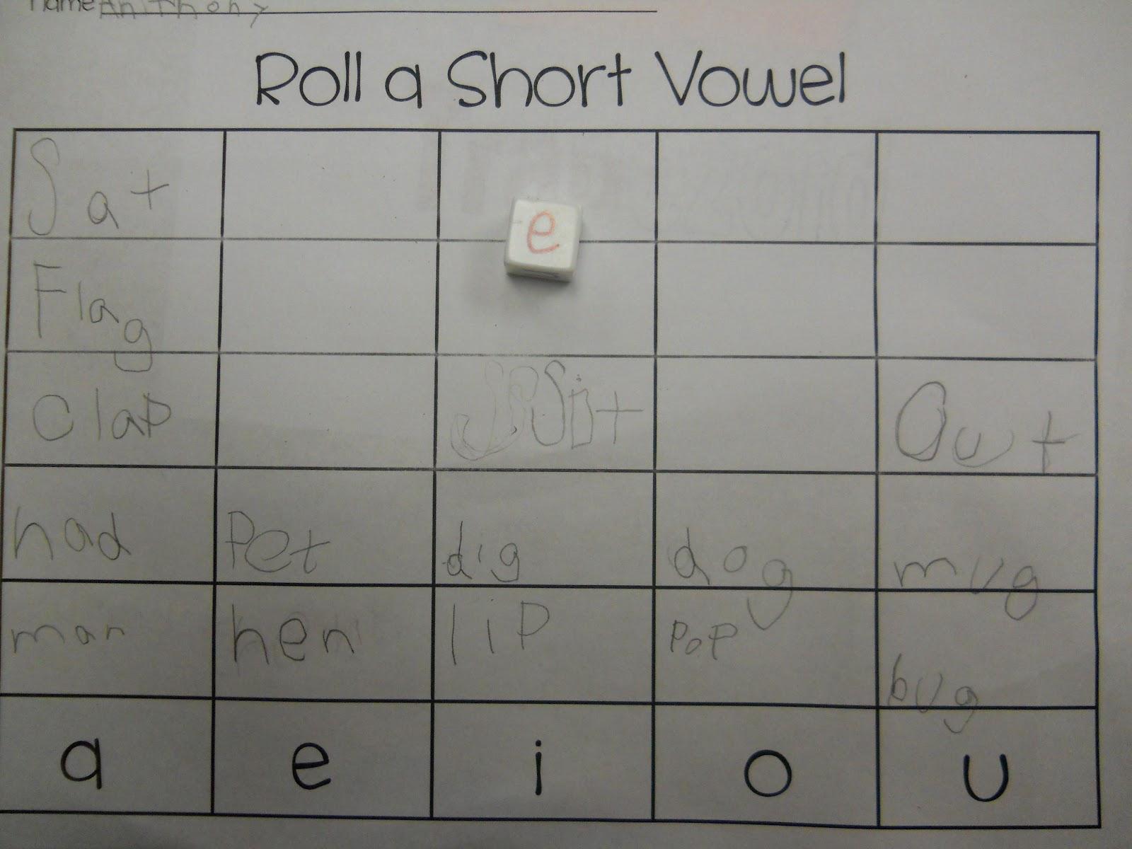 Mrs T S First Grade Class Roll A Short Vowel