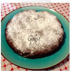 E per un compleanno.... torta Caprese...