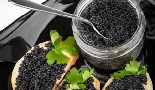Caviar Beluga  Berasal dari ikan beluga sturgeon