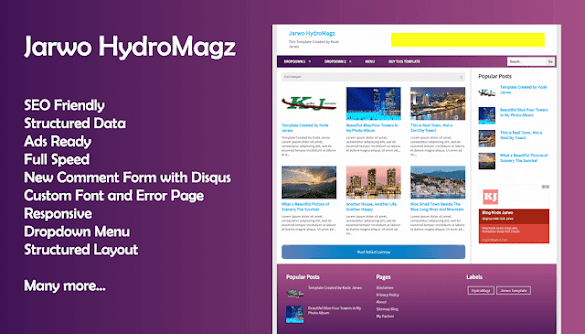 Download Jarwo Hidromagz Blogger Template Premium