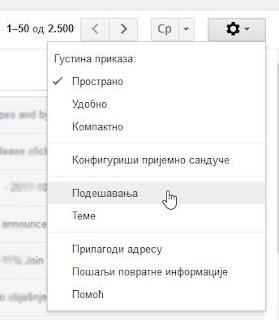 gmail podešavanja