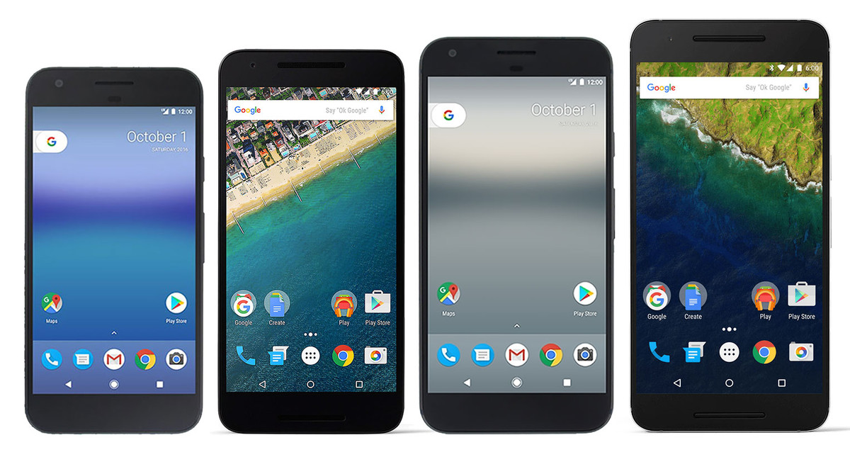 Here's The Size Comparison Of The Pixel, Pixel XL And The Nexus 6P, Nexus 5X