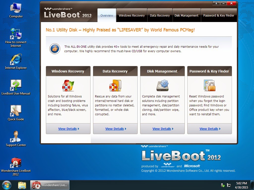 WONDERSHARE LIVE BOOT 2012 ISO