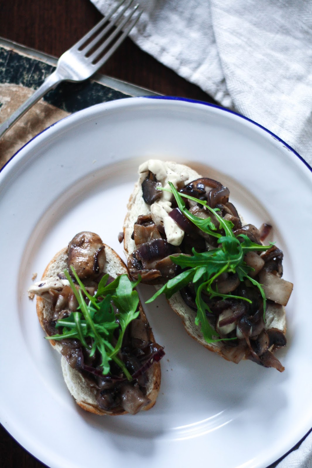 Mushroom melt on toast recipe