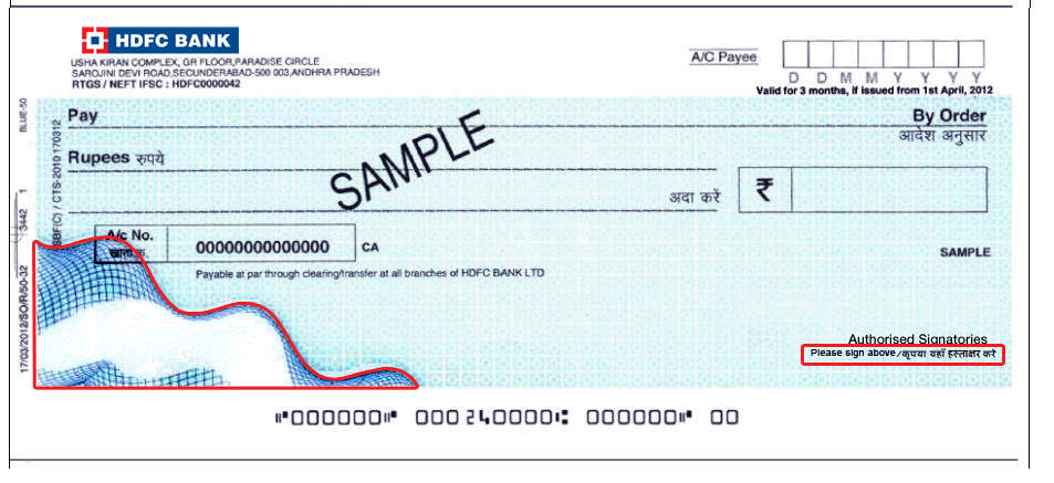 get new cheque book before 31st december 2012