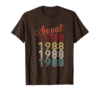1988 Vintage Funny 30th Birthday Gift Shirt For Men or Women