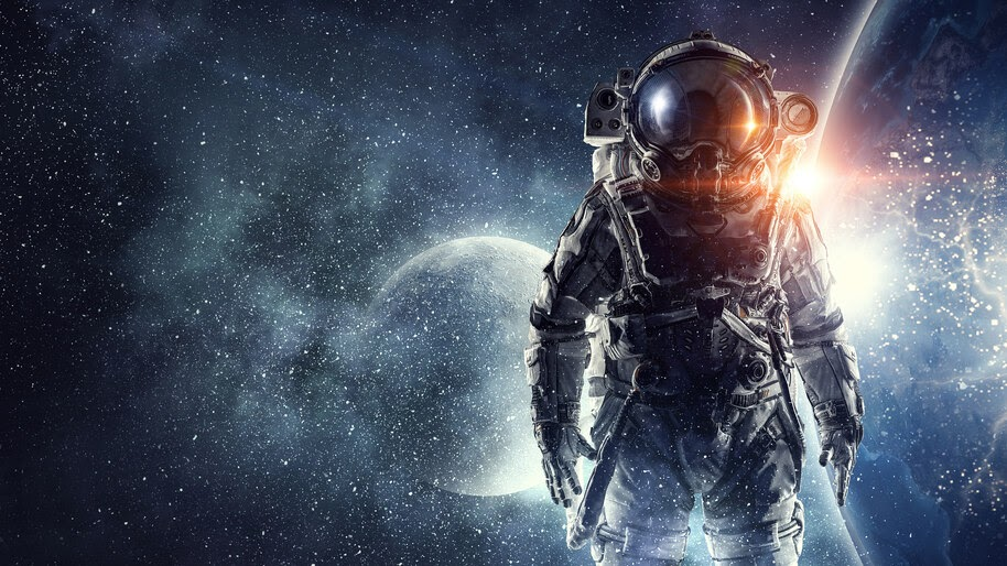 Astronaut, Outer Space, Stars, 4K, #4.23