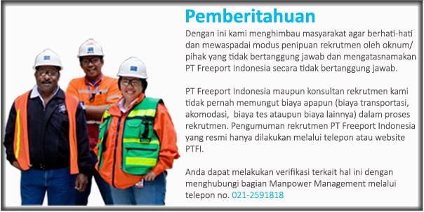 Lowongan Kerja Jakarta PT Freeport Indonesia Terbaru 2013