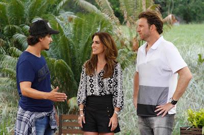 Rogério, Ticiana e Carlos - Crédito: Gabriel Gabe/SBT