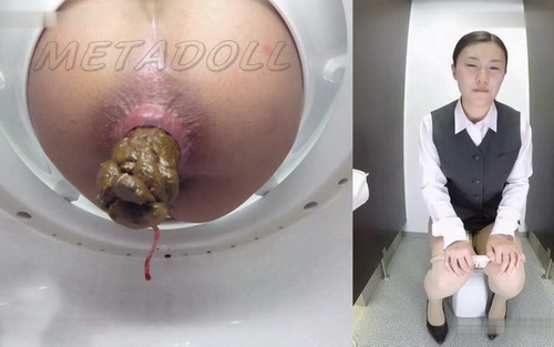 [BY-001] Girls pooping in toilet ass close-up