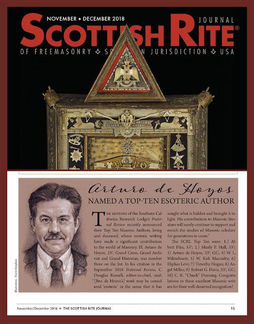 Scottish Rite Journal. November/December, 2018. Portrait of Arturo de Hoyos by Travis Simpkins