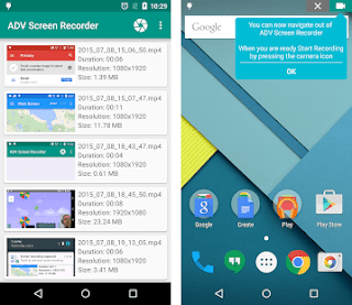 ADV screen recorder apk download screenshot
