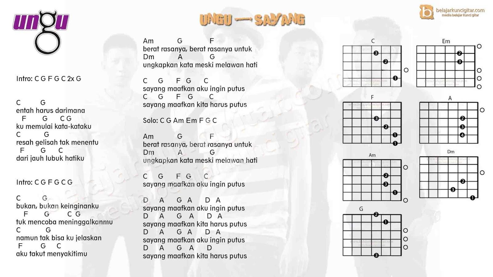 5 kunci gitar lagu ungu yang populer belajar kunci gitar kunci gitar ungu sayang reheart Choice Image