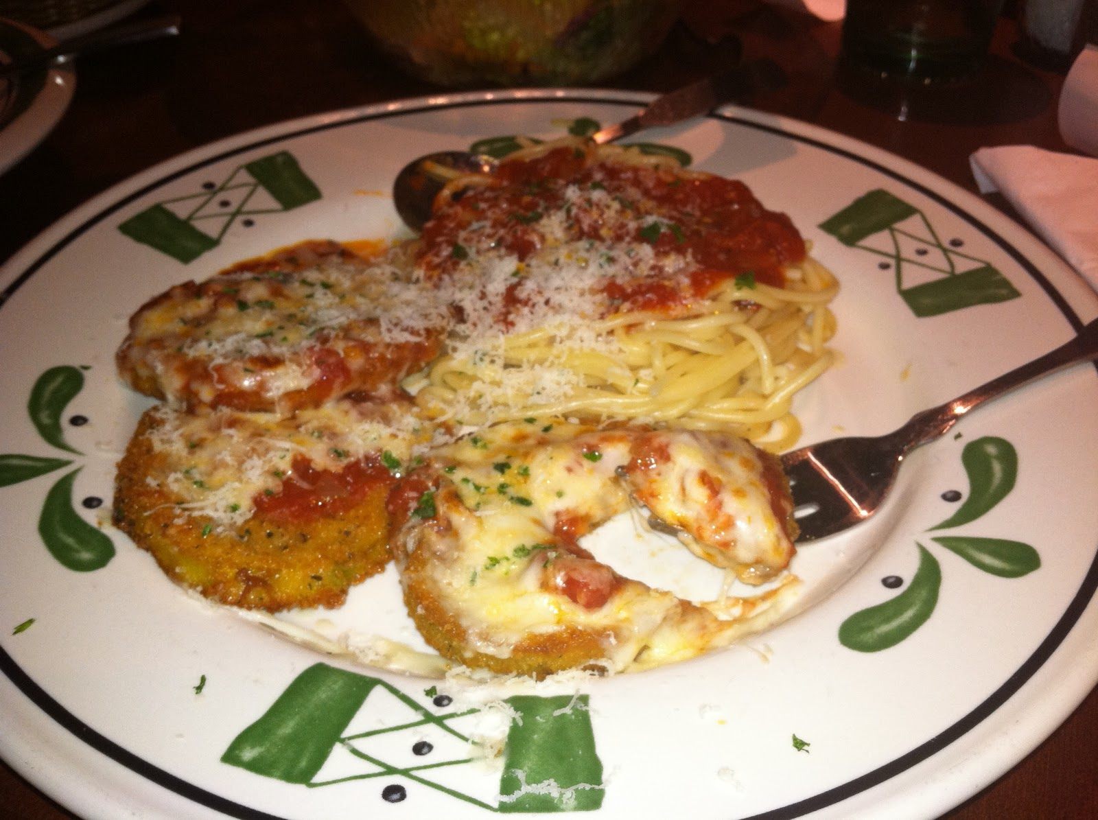 Eggplant Parmesan from Olive Garden (Personal Photo)